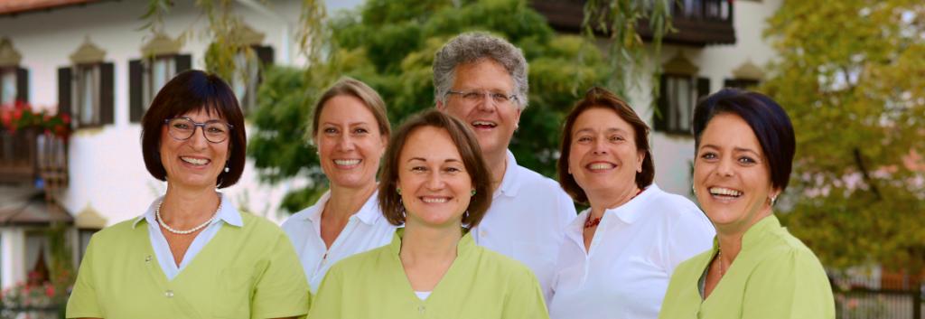 Ärzte und Team der internistischen Hausarztpraxis Oberhaching Ascher Gollreiter-Braunfels